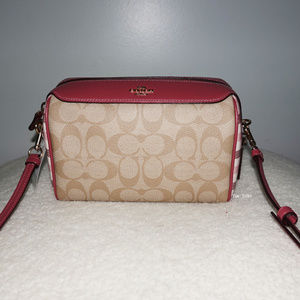 Coach Gingham MIni Bennett Crossbody/Shoulder Bag